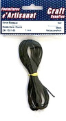 ELASTIC CORD ROUND BLACK 1 mm 144 inches long Arts & Crafts