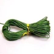 30 Metres 1mm Dark Green Waxed Cotton Necklace / Bracelet Jewellery Making Cord - 10m x 3 Bundles