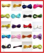 100 Metres 1mm Assorted Colour Waxed Cotton Necklace / Bracelet Jewellery Making Cord