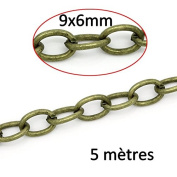 5 Metres of Bronze Chain STS 9x6 mm