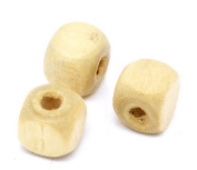 ZHJZ Wooden Square Bead Cube Bead for DIY Craft