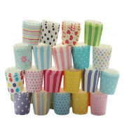 Outflower 50pcs Colourful High Temperature Resistance Muffin Cup Cute Cake Paper Cups Random Colour