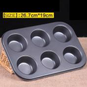 6 Cups Mini [Muffin] Bun [Cupcake] Baking Bakeware Mould Tray Pan Mould Kitchen Tool