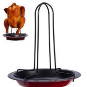 OrliverHL Carbon Steel Roasted Chicken Roaster Racks Grill Racks Non-stick Roasting Pan Oven Safe