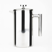 MD Group Coffee Maker Double Walled Press 0.9l 5Cup Stainless Steel Dishwasher Safe Kitchen Coffe Maker