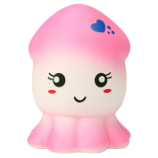 JoyJay Soft Squishy Toy Squeeze Squid Squishy Slow Rising Cream Scented Decompression Toys Pink