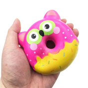 Soft Toys,Familizo 9.5cm Squishy Cute Owl Donut Squeeze Slow Rising Dolls Cream Scented Decompression Cure Gifts