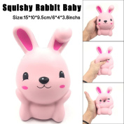 Soft Toys,Familizo 15cm Squishy Pink Cute Rabbit Squeeze Slow Rising Fun Dolls Decompression Gift