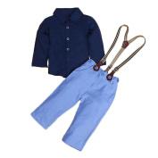 JaneDream Baby Shirt Suspender Trousers Suit