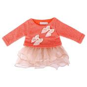 JaneDream Newborn Princess Bowknot Printing Dress