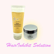 hair terminator cream+hair growth suppressor(hair perminent remove .