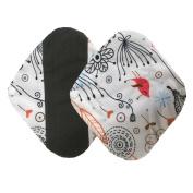 IGEMY 2 Pcs Reusable Bamboo Cloth Washable Menstrual Pad Mama Sanitary Towel Pad
