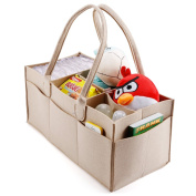 5 Compartments Baby Nappy Caddy Nursery Storage Bin Infant Wipes Bag Nappy Organiser Basket