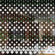 Glitter String Curtain, Prevently High Quality Creative Butterfly Curtain Crystal Glass Bead Curtain Luxury Living Room Bedroom Window Door Wedding Decor