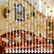 2018 Curtain, Bead Crystal Glass Luxury Living Room Bedroom Window Door Wedding Curtain Decor