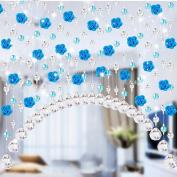 Crystal Glass Curtain, Rose Bead Curtain Living Room Bedroom Window Door Wedding Decor