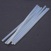 NBEADS 1000g Clear Plastic Hollow Sticks Used for Glue Gun,250x7mm,about 99pcs/1000g