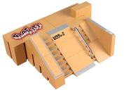 CHONE 5pcs Mini Finger Skateboard - Skate Park Kit Ramp Parts for Tech Deck Fingerboard Kids Sport Toy