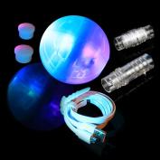 Jupiter - Smartest LED Juggling Ball, 2 Programmable Brains, up to 99 Programmes each. Full spectrum. Extendable Modular Juggling