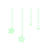 WINOMO Fluorescent Stickers Glow in the Dark Star Moon Luminous Wall Decal for Kid