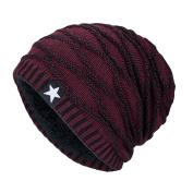 Princer 2017 Hot!!! Unisex Winter Beanie Hat Scarf Set, Warm Knit Hat Thick Knit Beanie Stars Skull Cap For Men Women
