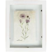 Just Contempo Chic Wooden Photo Frame, White, 10cm x 15cm