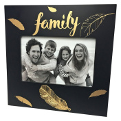 Just Contempo Special Family Photo Frame, Black/Gold