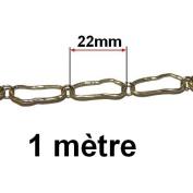 1 Metre Chain 22 mm Gold Bronze Fantasy viel