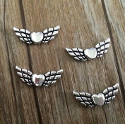 Kingwin 50Pcs Alloy Angel Wing Charm Spacer Beads DIY Jewellery Accessories 20mm