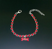 KOTiger Bone Shape Rhinestone Pendant Pet Dog Puppy Necklace Collar Pet Supplies
