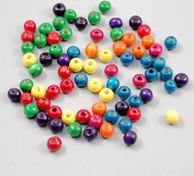 Yeah67886 8mm Hole Wooden Barrel Beads for DIY