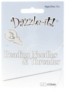 Dazzle-It Beading Needle Set Needles/Threader Folding Card