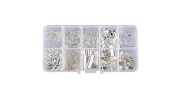 Fhouses Fhouses Silver 5 mm 20 mm DIY Material Jewellery Accessory Set (Connecting Rings Jewellery Making Earring Bracelet Necklaces Jewellery Starter Kit Sachen
