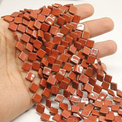 "5 Strand Lot Red Jasper Smooth Gemstone Fancy Diamond Kite Loose Craft Beads 13"" 9mm"