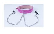 saphira toys. Collar with nipple clamps. BDSM bondage SM Fetish S & M Sextoys