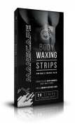 Manscape Body Waxing Strips for Men - 20 Strips with 2 Finishing Wipes