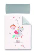 pirulos 77013219 – FUNDA Nordica Case and Pad 100 x 135 white unicorn design and Strawberry