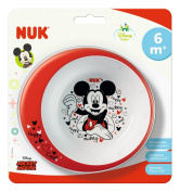 NUK Disney Mickey 80890771 Bowl Non-Slip Base BPA-Free for Ages 6 Months Multi-Coloured