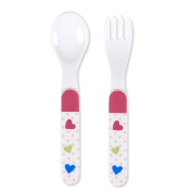 Sterntaler 6811732 Peggy Spoon and Fork Set, Multi-Colour