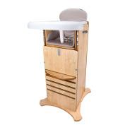 Little Helper NBFPHC02 1DE Multi-Function Award Winning FunPod Highchair and Kitchen Safety Kit – Natural Finish, 6 Months Plus, Beige