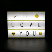 FX Treasures DIY Cinema Light Box Cinematic Box LED Cinema Box A6 Size with 90 Letters and symbols