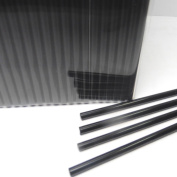 50pcs 10cm X 0.4cm Black Acrylic Lollipop Sticks for Cake Pops Lollipop Candy