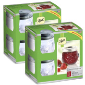 Ball Jelly Elite Collection Jam Jar (8 Pack), 240ml, Clear