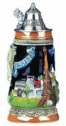 German Beer Stein Paris relief stein 0.25 litre tankard, beer mug