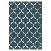 Area Rugs, Maples Rugs [Made in USA][Molly] 1.5m x 2.1m Non Slip Padded Large Rug for Living Room, Bedroom, and Dining Room - Overcast Blue