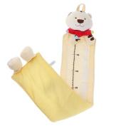 Prettyia Jungle Animals Children's Height Chart for Kids Height Measurement Decowall - Yellow, 110cm x 20cm