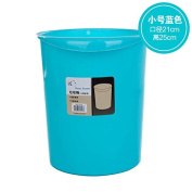 CWAIXX Trash home living room kitchen bathroom Queen mini plastic trash trash basket without cover , Royal Blue Pure small blue