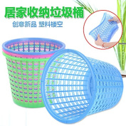 CWAIXX Plastic hollow trash home small living room kitchen bathroom trash can not cover office waste-paper basket paper basket