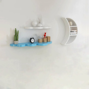 Cloud moon creative wall hanging shelf partition