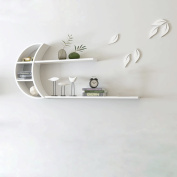 White wall moon creative wall hanging wall shelf partition living room background wall